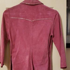 Miu Miu Jackets & Coats - Suede 3/4 sleeve blazer